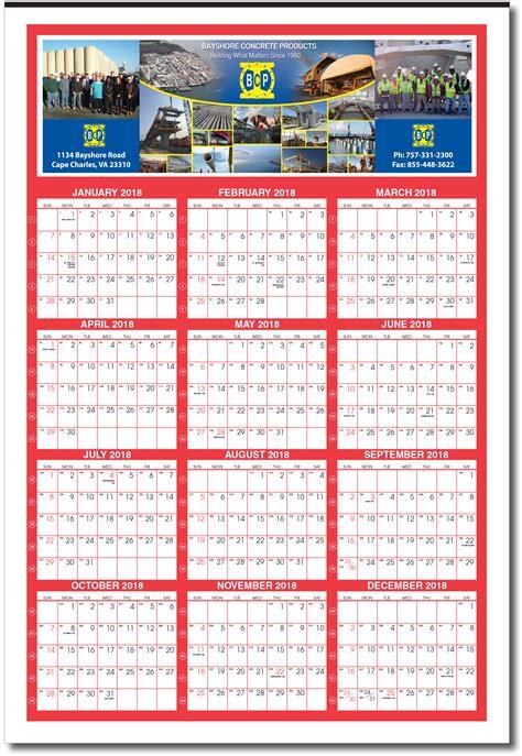 2021 GIANT Custom Year At Glance Calendar (with week ...