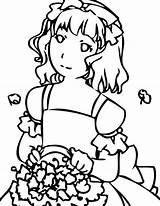 Coloring Pages Three Easy Flower Reception Maid Z31 Archive Honor Paper Sun Button Through Grab Popular sketch template