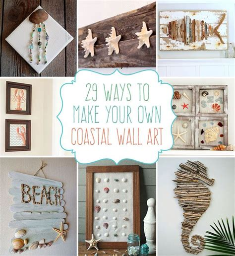 19 fascinating diy coastal wall decorations to refresh your home decor seashell projects beach crafts seashell crafts. 29 Beach Crafts: Coastal DIY Wall Art | Beach crafts diy, Beach crafts, Beach bathroom decor