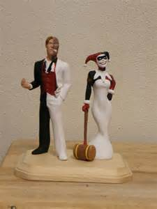 batman wedding cake toppers two and harley quinn by beastgrinder on deviantart