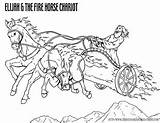 Coloring Fire Elijah Chariot Bible Elisha Pages Printable Story Chariots Christian Sheets Heaven Sunday Crafts Resources Today Goes Stories Fiery sketch template