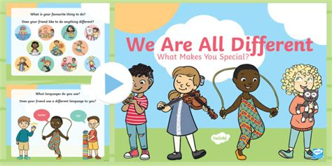 * New * We Are All Different What Makes You Special? Powerpoint