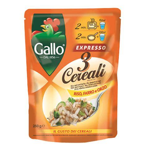 come cucinare riso farro e orzo riso gallo gallo expresso 3 cereali riso farro e orzo
