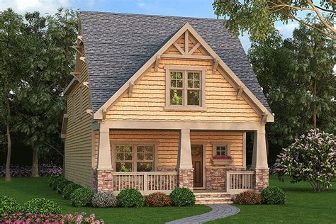 Narrow Cottage Plans by Narrow Lot Craftsman Bungalow 75524gb Architectural