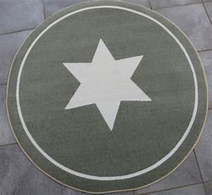 Teppich Grau Mit Stern : teppich rund stern star grau taupe ca 100 cm vorleger wohnaccessoires teppiche ~ Markanthonyermac.com Haus und Dekorationen