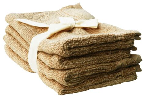Rustic Bath Towel Sets by Bamboo Bath Mitts Set Of 4 Latte Brown Rustic Bath