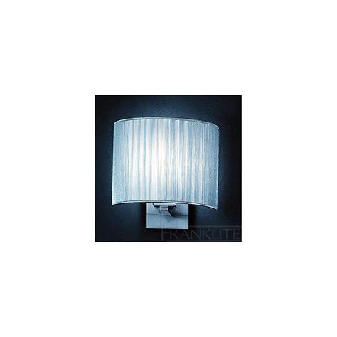 franklite wb901 1074 panache silver string half shade wall