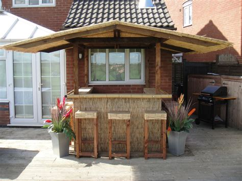 Outdoor Bar Home Garden Bar Thatched Roof Tiki Bar Gazebo
