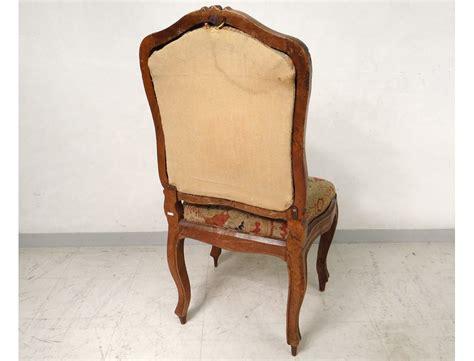 chaise louis 15 chaise à châssis louis xv noyer sculpté tapisserie fleurs