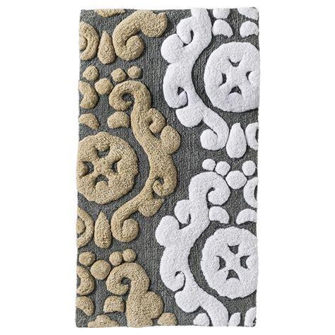 threshold scroll bath rug gray  bathroom rugs