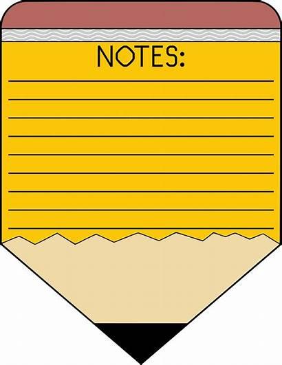 Notes Clipart Pencil Memo Pad Vector Notepad