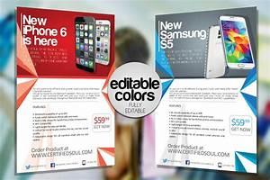 Modern Newsletter Templates Free Smartphone Flyer Template Psd Flyer Designs Graphicfy