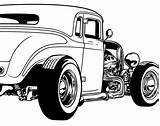 Rod Coloring Clipart Rods Street Pages Cartoon Vector Cars Ford Drawings 32 Rat Adult Drawing Vectors Pack Magz Cartoons Colouring sketch template