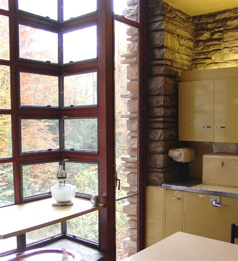 kitchen interiors images interior of fallingwater a frank lloyd wright designed