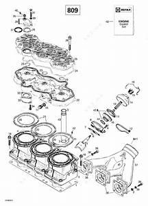 Ski Doo 1999 Grand Touring - 700  Cylinder  Exhaust Manifold  809