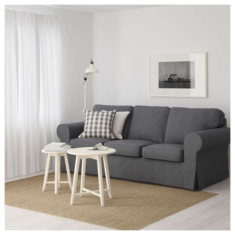 canape ikea ektorp ektorp three seat sofa nordvalla grey ikea