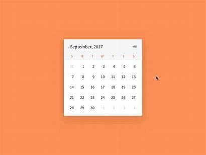 Calendar Widget Dribbble