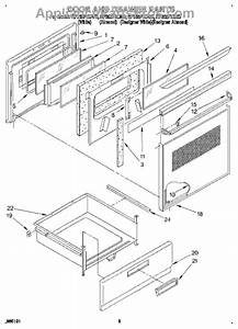 Parts For Whirlpool Rf365pxdn0  Door And Drawer Parts