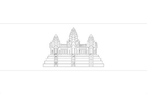 mewarnai gambar bendera negara kamboja
