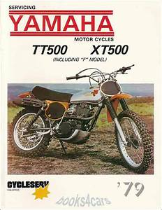 Shop Manual Tt500 Xt500 Service Repair Yamaha Book Xt Tt 500 Workshop