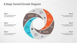 6 Steps Tunnel Circular Diagram