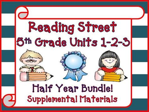 Reading Street 5th Grade Units 123 Bundle Supplemental Materials  Activities, The O'jays And