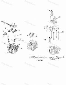 Polaris Atv 2016 Oem Parts Diagram For Engine  Cylinder