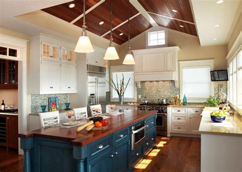 teal kitchen island colorful kitchen island ideas eatwell101