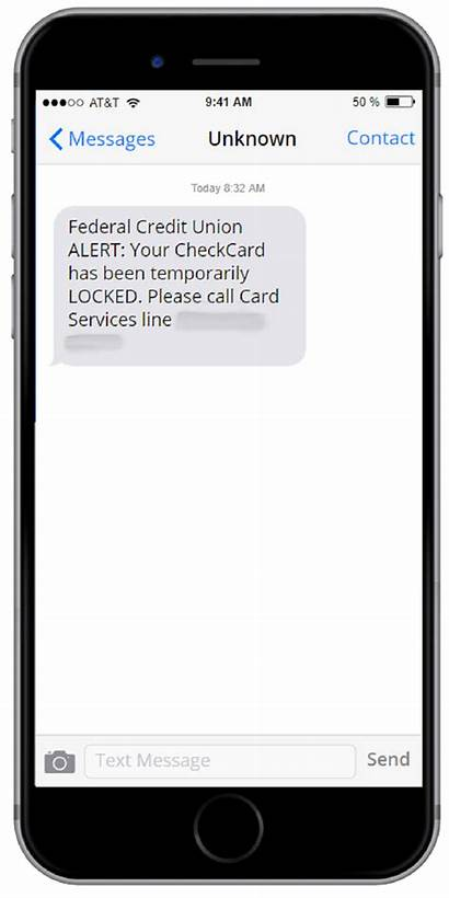 Text Message Scam Fraudulent Example Security Fpcu