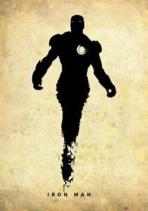 Iron Man (Silhouette Superhero poster) | By: Poster ...