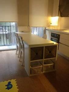 Ikea Möbel Individualisieren : bar high dining table with kallax shelves ikea hacks pinterest m bel kallax regal und ~ Watch28wear.com Haus und Dekorationen