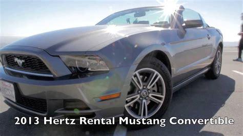 hertz ford mustang convertible exterieur  interior