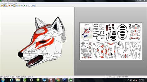 papercraft pdo file template  okami amaterasu mask