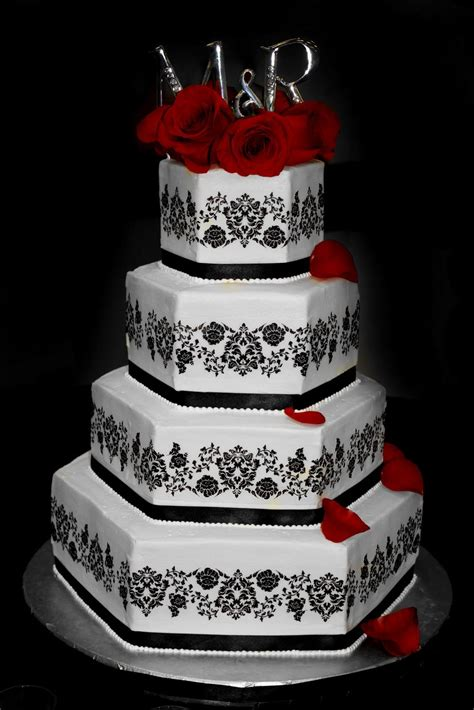black wedding cake black  white wedding cakes