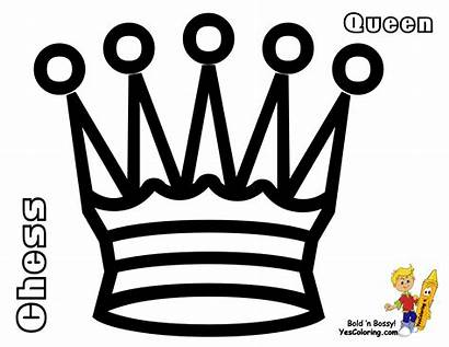 Coloring Pages Chess Queen Queens Kings Pieces