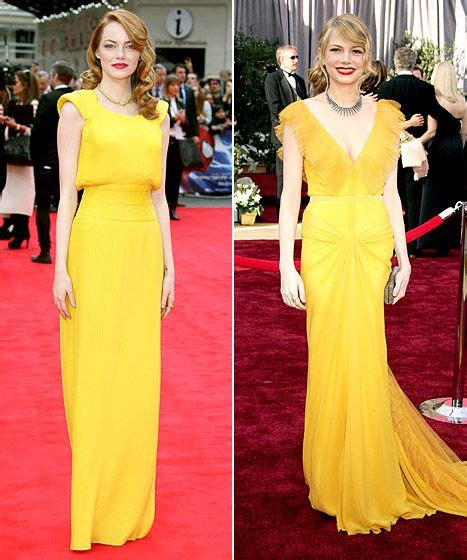 Emma Stone Echoes Michelle Williams Canary Oscars