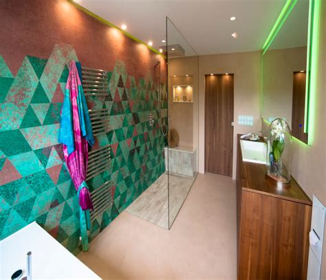 Modernes Bad Design by Modernes Bad Design Mit Wall And Deco System Tapeten