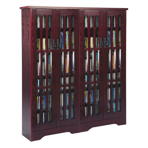 leslie dame mission style multimedia storage cabinet cherry m 954dc