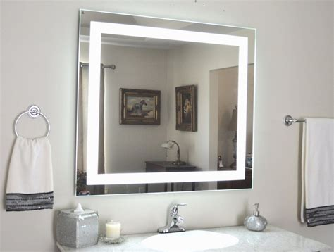 Bathroom Mirrors With Built In Lights by Front Lighted Led Bathroom Vanity Mirror 44 Quot X 36