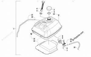 Arctic Cat Atv 2008 Oem Parts Diagram For Gas Tank Assembly