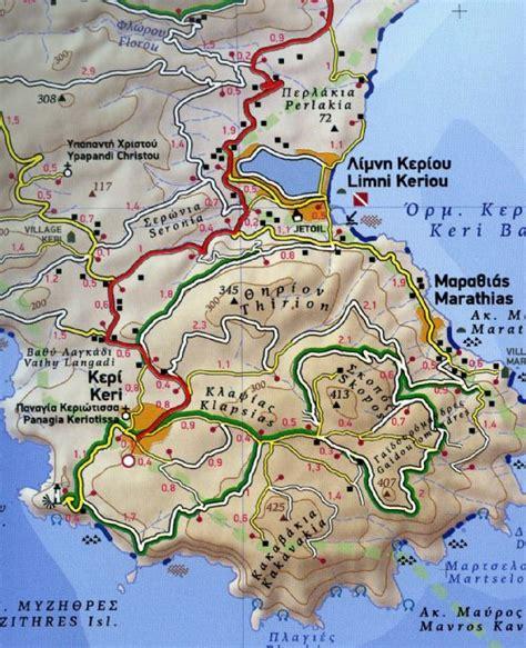 zakynthos  zante  terrain map