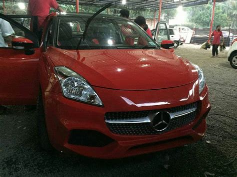 Modified Suzuki Baleno Pictures by Maruti Suzuki Baleno Modified To Mercedes A Class Modifiedx