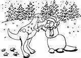Dinosaur Coloring Snowman Creatures Creation Pngio sketch template