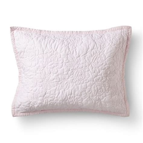 shabby chic pillow shams rose stitch quilt sham simply shabby chic target
