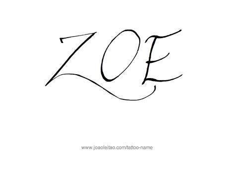zoe  tattoo designs