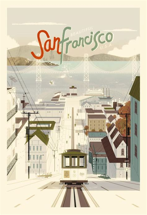 san francisco design san francisco vintage style poster illustration by kevin dart