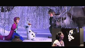 Frozen - Olaf 'Talking' Voice Over - YouTube