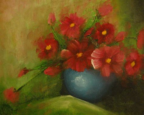 Cosmos Acrylic Painting Painting By Cindy Wright