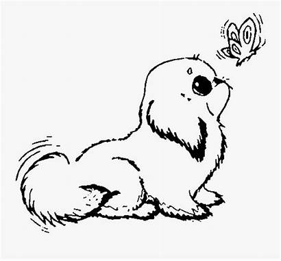 Coloring Pages Dog Puppy Puppies Clipart Promising