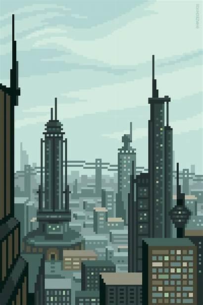 Future Pixel Retro Animated Mazeon Futurism Planet